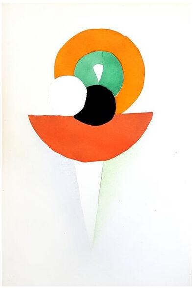 """Sonia Delaunay, 'Original Pochoir """"27 Living Paintings XXI"""" by Sonia Delaunay', 1969"""