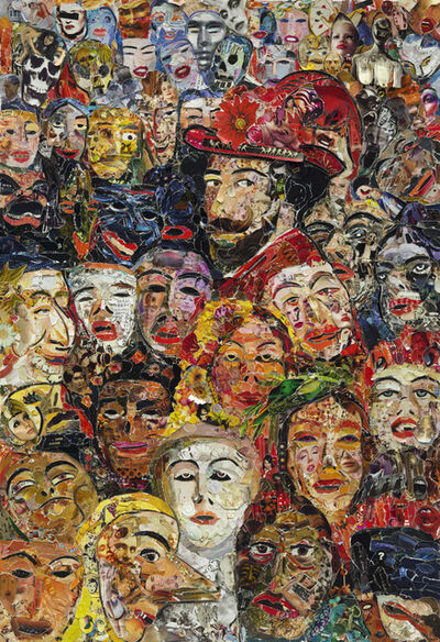 Vik Muniz, 'Portrait of the Artist Surrounded by Masks, after James Ensor (Pictures of Magazines 2)', 2013