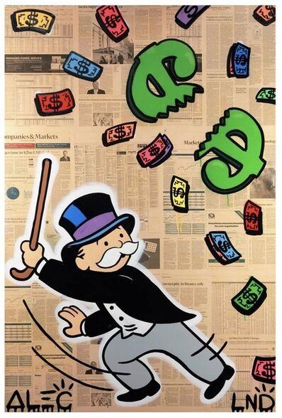 Alec Monopoly, 'Monops beating $ pinata'