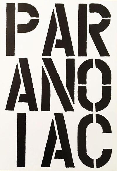 Christopher Wool, 'Paranoiac - Black Book', 1989
