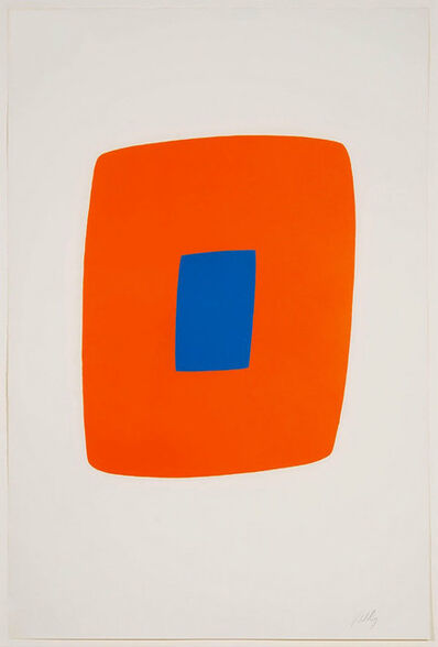 Ellsworth Kelly, 'Orange with Blue', 1964-1965