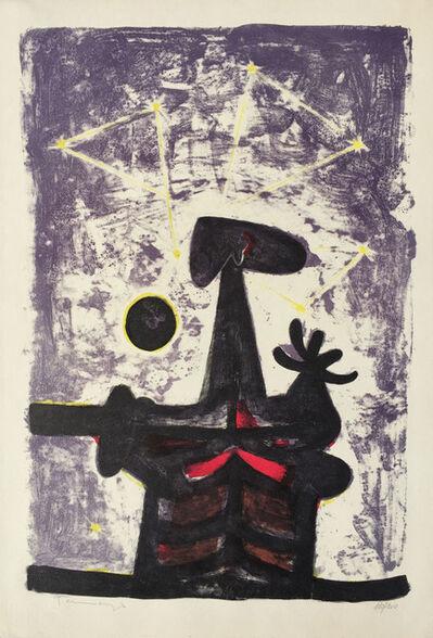 Rufino Tamayo, 'Hombre, Luna y Estrellas', 1950