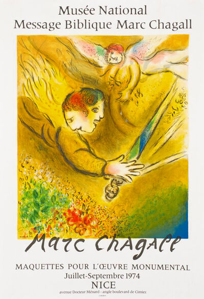 Marc Chagall, 'Adam and Eve Banished from Paradise - Message Biblique 1974', 1974