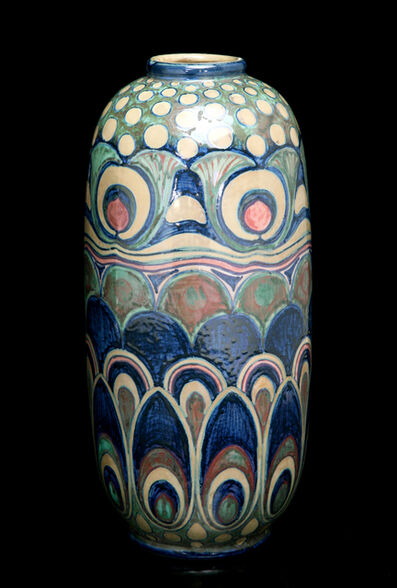 Galileo Chini, 'Liberty Feathers and Blooms Vase', ca. 1903