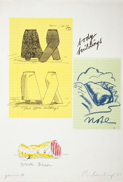 Claes Oldenburg, 'Untitled (Body Buildings)', 1968