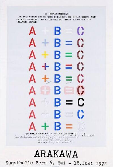 Shusaku Arakawa, 'Arakawa Kunsthalle Bern', 1972