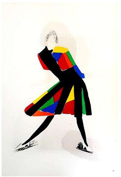 "Sonia Delaunay, 'Original Pochoir ""27 Living Paintings XXII"" by Sonia Delaunay', 1969"