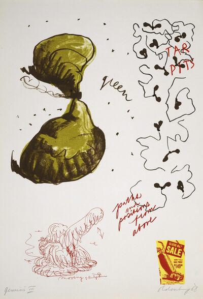 Claes Oldenburg, 'Notes (Tar Pits)', 1968