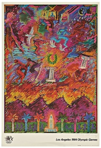 Carlos Almaraz, 'Los Angeles 1984 Olympic Games (Hand Signed with Signed, Embossed Olympic Committee COA)', 1982
