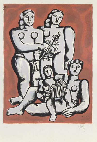 Fernand Léger, 'Femmes et Enfants a l'Accordeon', ca. 1955