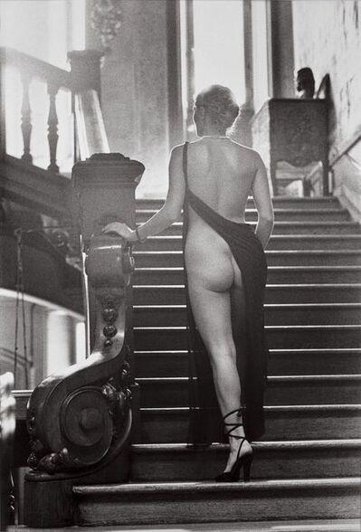 Helmut Newton, 'Roselyne au Chateau d'Arcangues', 1975