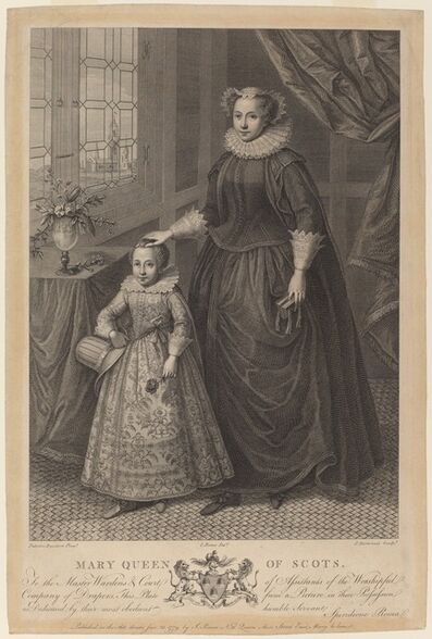 Francesco Bartolozzi after Federico Zuccaro, 'Mary, Queen of Scots', published 1779