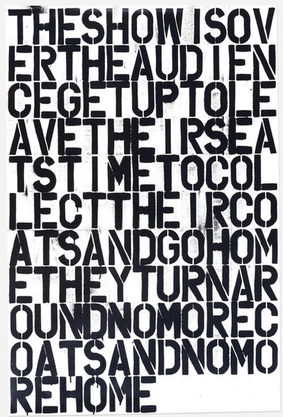 Christopher Wool, 'Untitled ', 1993