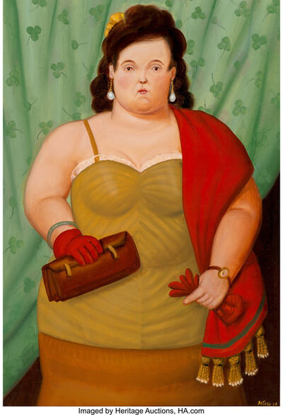 Fernando Botero, 'Woman with her Purse', 2010