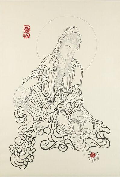 Xi Song, 'Buddha Admiring a Lotus Flower 觀蓮菩薩', 2013