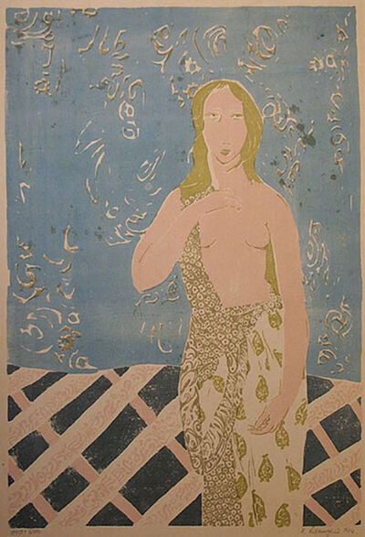 Laxma Goud, 'Untitled (Standing Pink Woman)', 1964