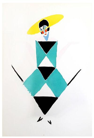 """Sonia Delaunay, 'Original Pochoir """"27 Living Paintings XX"""" by Sonia Delaunay', 1969"""