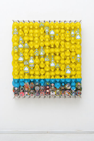 Jacob Hashimoto, 'All Looped Around in this Finite Forest of Past Future's History', 2019