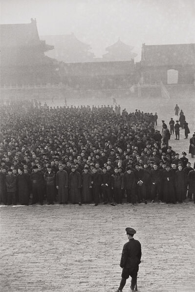 Henri Cartier-Bresson, 'The Kuomintang calls recruits to arms, Beijing, China', 1948