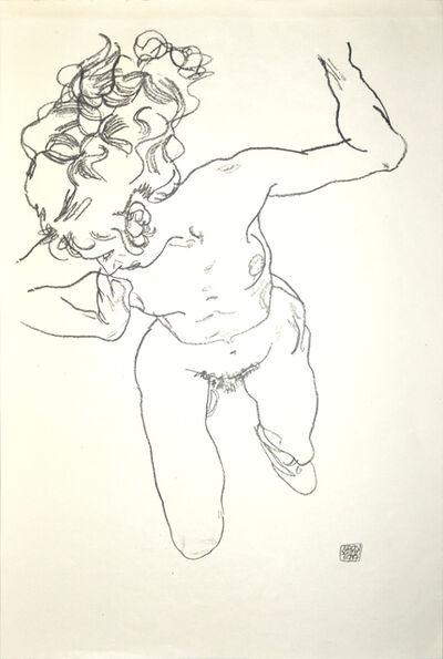 Egon Schiele, 'Lying Nude of Woman', 1920