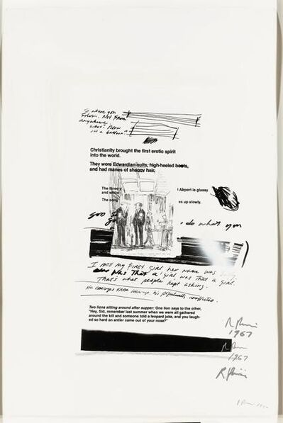 Richard Prince, 'Untitled', Signed twice and dated 85 and 1990; signed and dated 84 on the reverse