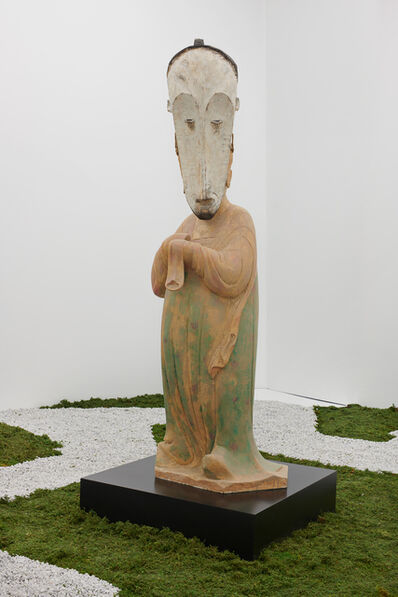Xu Zhen 徐震, 'Evolution-Tang Dynasty Painted Pottery Figure Court Lady, Fang Ngil Ceremonial Mask'