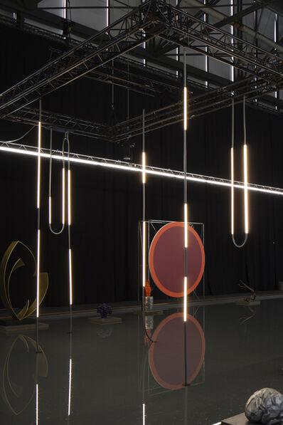Os and Oos, 'Mono-Lights - The basalt pool installation', 2016