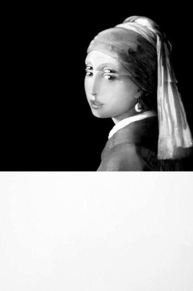 Mariella Bettineschi, 'Vermeer, La Ragazza con l'Orecchino di Perla (Vermeer, Girl with a Pearl Earring)', 2017