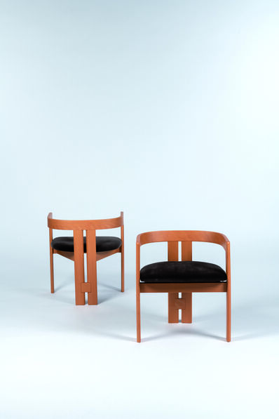 Tobia Scarpa, 'Pair of set of Pigreco armchairs', vers 1960