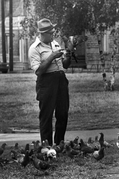 Réjean Meloche, 'Homme aux Pigeons', 1975