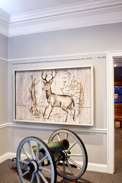Joseph Rossano, 'Elk Engraving Painting', 2017