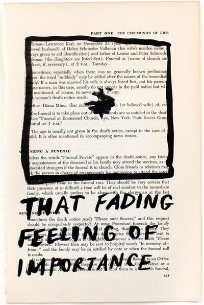RF Alvarez, 'That Fading Feeling Of Importance', 2015