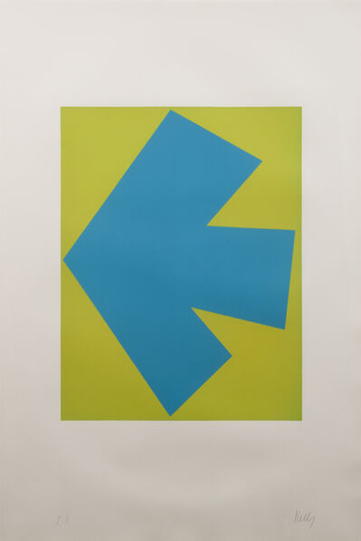 Ellsworth Kelly, 'Blue over Green', 1964