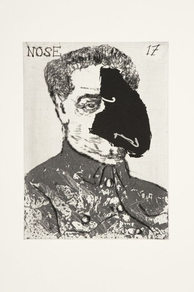 William Kentridge, 'Nose 17', 2009