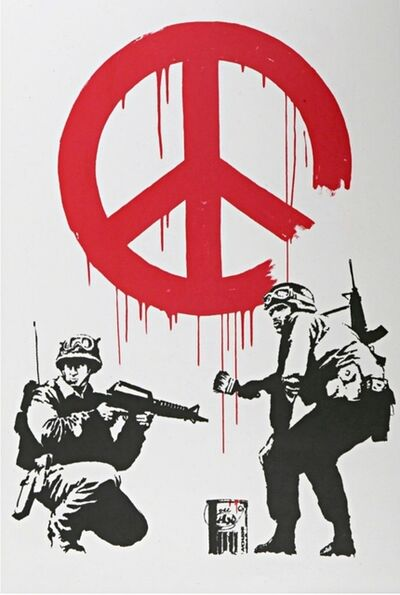 Banksy, 'CND Soldiers (Authenticated with Pest Control COA)', 2005