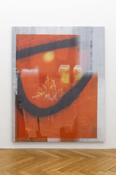 Ned Vena, 'Manhattan Skyline with Twin Towers Reflected in the Eye of Spiderman (5)', 2017