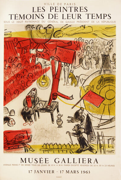 Marc Chagall, 'The Revolution - Les Peintres Temoins de Leur Temps - Musee Calliera', 1963