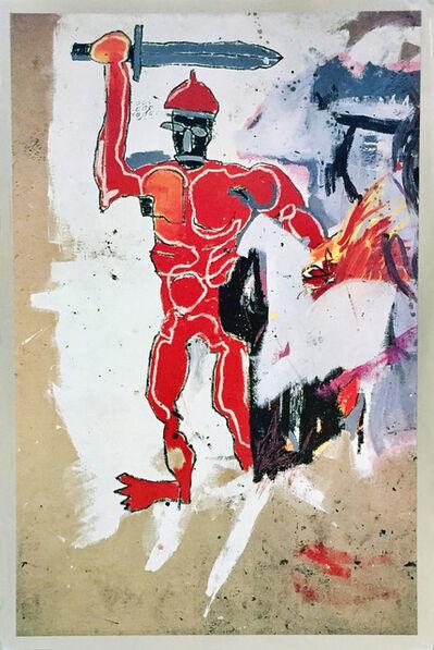 Jean-Michel Basquiat, 'Basquiat at Vrej Baghoomian 1989 (Basquiat Red Warrior) ', 1989