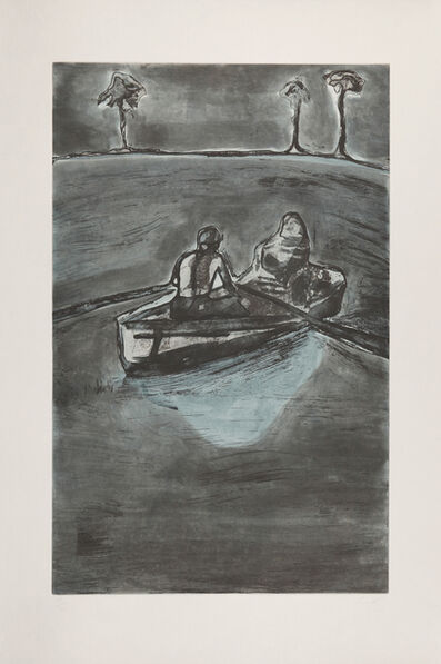 Peter Doig, 'Two People at Night (indigo)'