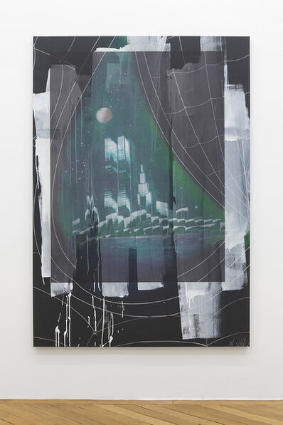 Ned Vena, 'Manhattan Skyline with Twin Towers Reflected in the Eye of Venom', 2017