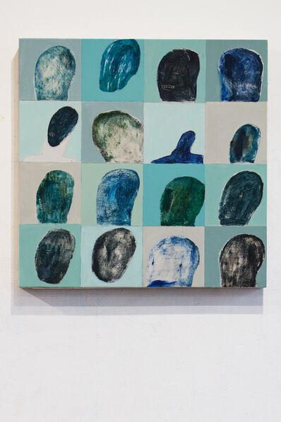 Volodymyr Kohut, 'Turquoise heads in my studio', 2017