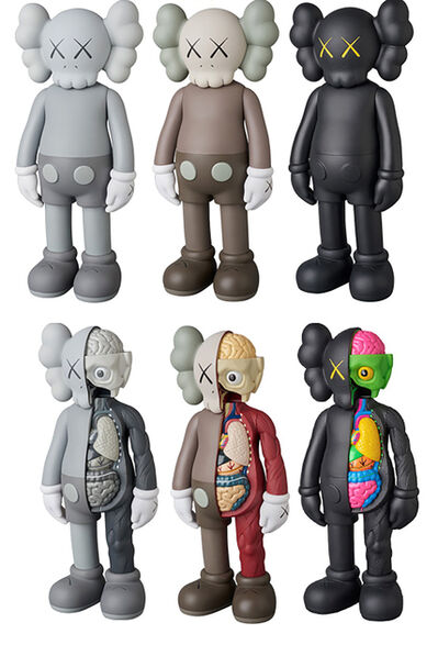 KAWS, 'Companion series - complete set of 6, (brown, grey and black and set of 3 Dissected Companion)', 2016