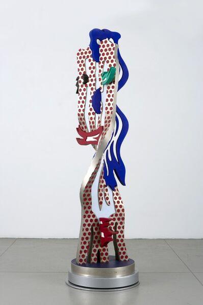 Roy Lichtenstein, 'Metallic Brushstroke Head', 1994
