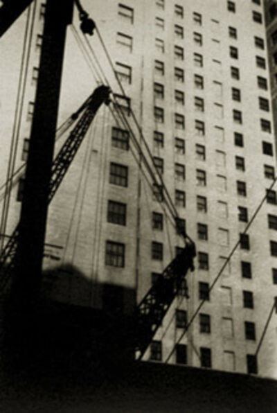 Walker Evans, 'Untitled (New York Architectural Study  with Cranes and Cables)', 1928-1929
