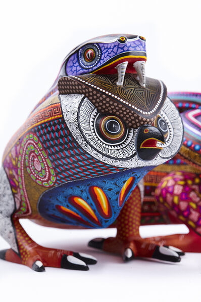 Manuel Cruz Prudencio, 'Fusion Vibora - Buho / Woodcarving Alebrije Mexican Folk Art Sculpture', 2017