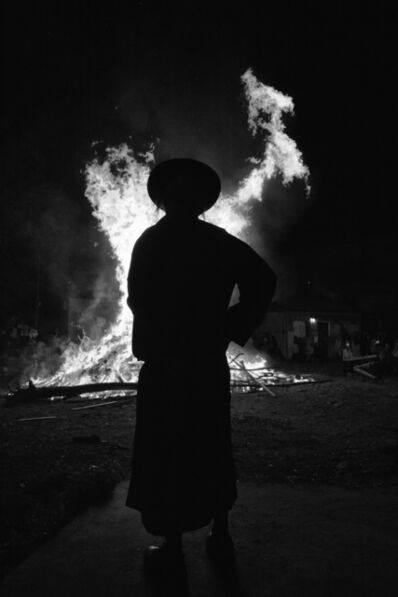 Ofir Barak, 'Mea Shearim, Lag Baomer Bonfire Preparation'
