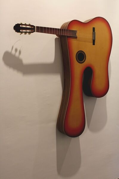 Washington Silvera, 'Guitarra sunburst derretida (from 'Objetos acústicos' series)', 2018