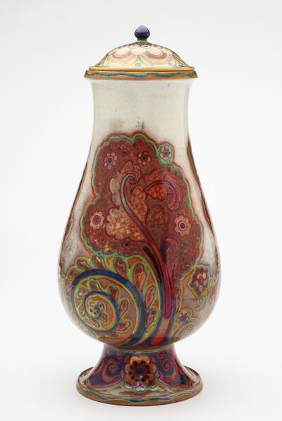 Galileo Chini, 'Golden Blooms Covered Vase', ca. 1900
