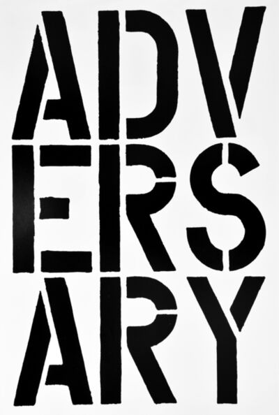 Christopher Wool, 'ADVERSARY, page from the Black Book', 1989