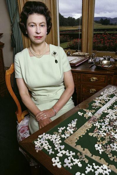 David Montgomery, 'Queen Elizabeth with Puzzle', 1967